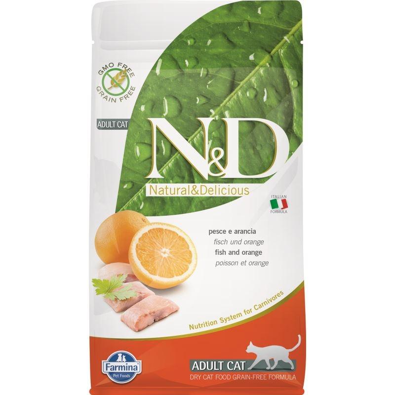 N&D Cat Grain free Fish and Orange, 1.5 kg imagine