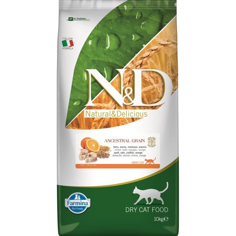 N&D Cat Low Grain Fish and Orange, 10 kg imagine