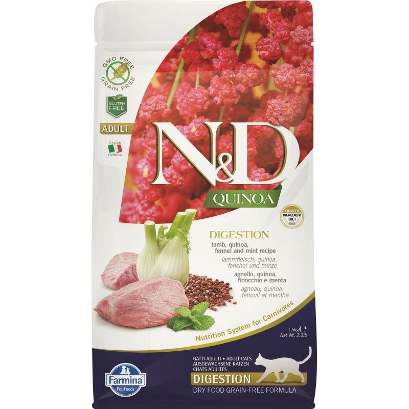 N&D Cat Digestion, Quinoa and Lamb, 1.5 kg imagine