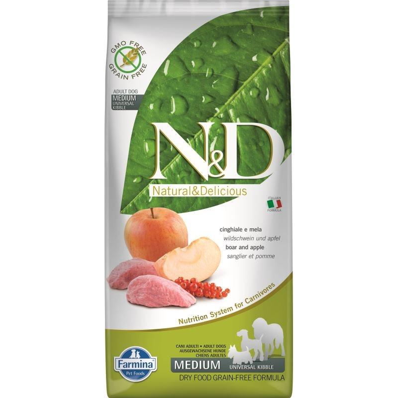 N&D Dog Grain free Boar and Apple Adult Maxi, 12 kg imagine