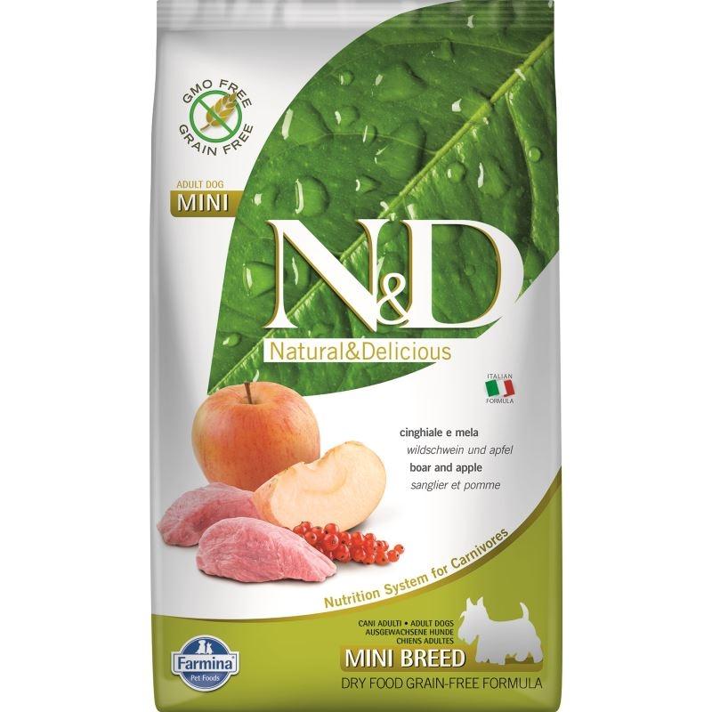 N&D Dog Grain free Boar and Apple Adult Mini, 2.5 kg imagine