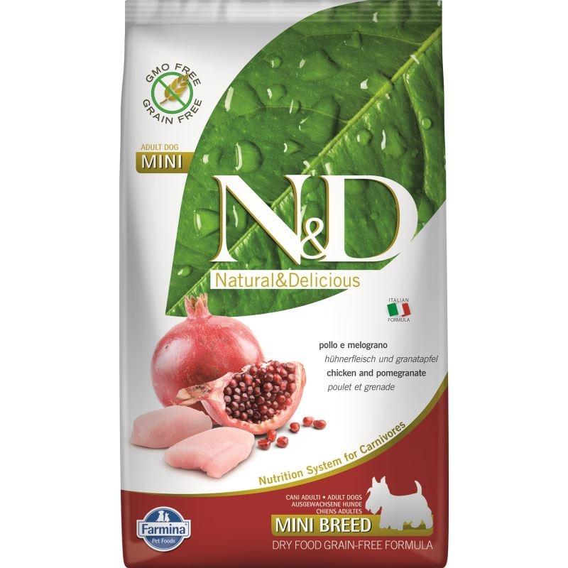N&D Dog Grain free Chicken and Pomegranate Adult Mini, 2.5 kg imagine