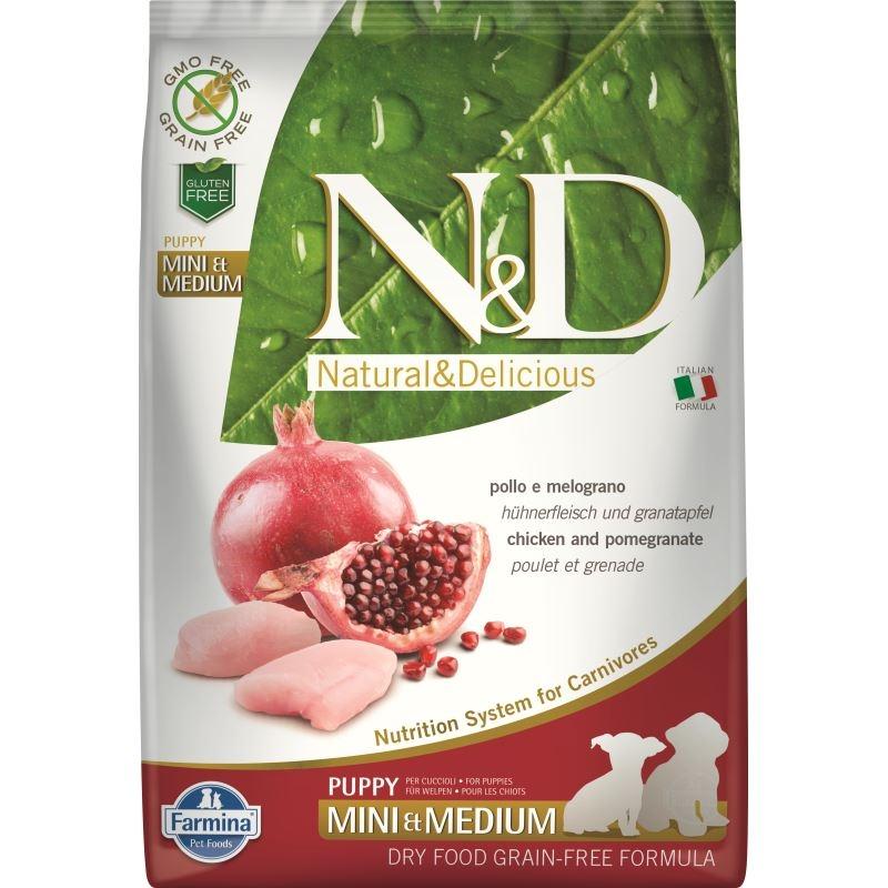 N&D Dog Grain free Chicken and Pomegranate Mini and Medium Puppy, 7 kg imagine