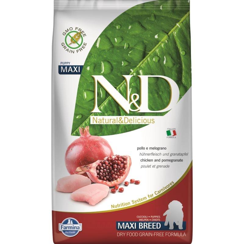 N&D Dog Grain free Chicken and Pomegranate Puppy Maxi, 2.5 kg imagine