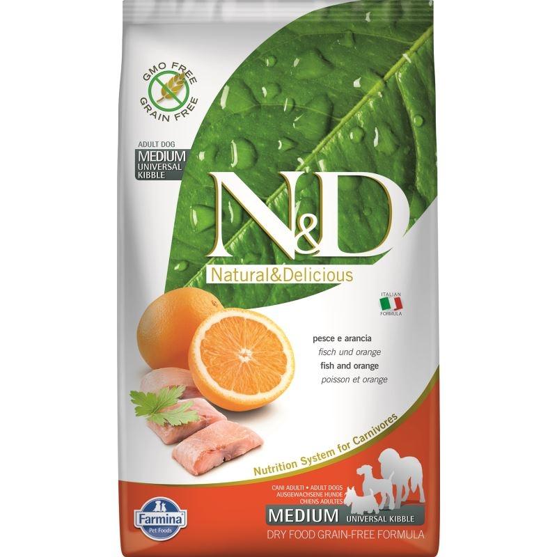 N&D Dog Grain free Fish and Orange Adult Medium, 2.5 kg imagine