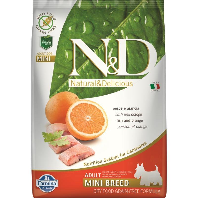 N&D Dog Grain free Fish and Orange Adult Mini, 7 kg imagine