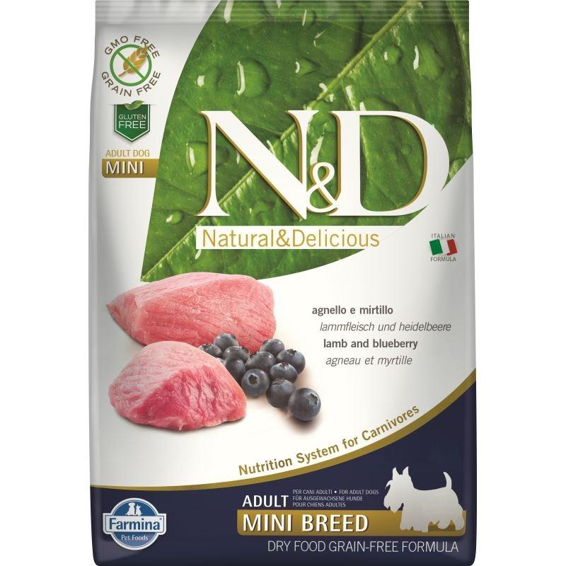 N&D Dog Grain free Lamb and Blueberry Adult Mini, 7 kg imagine