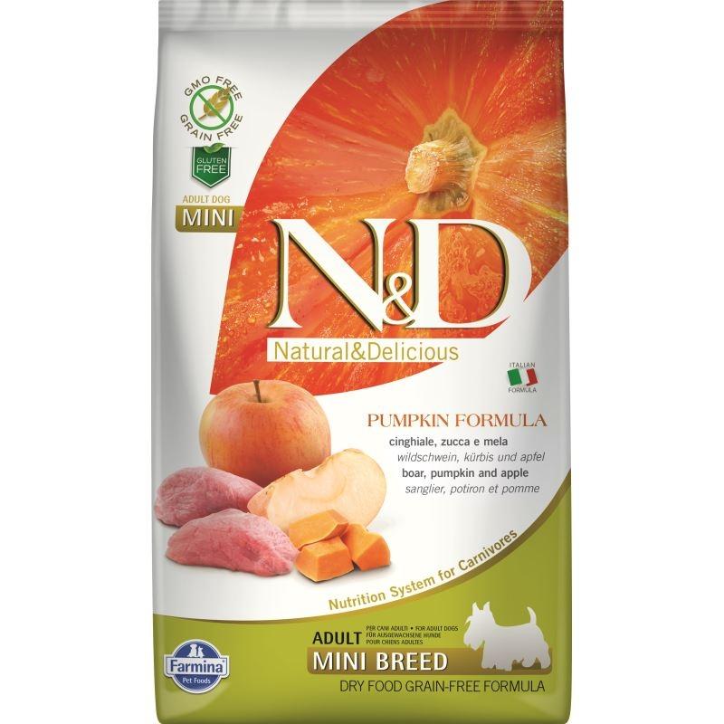 N&D Dog Grain free Pumpkin Boar and Apple Adult Mini, 2.5 kg imagine