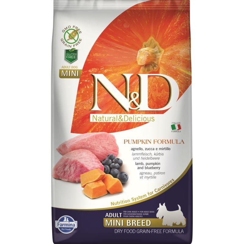 N&D Dog Grain free Pumpkin Lamb and Blueberry Adult Mini, 2.5 kg imagine