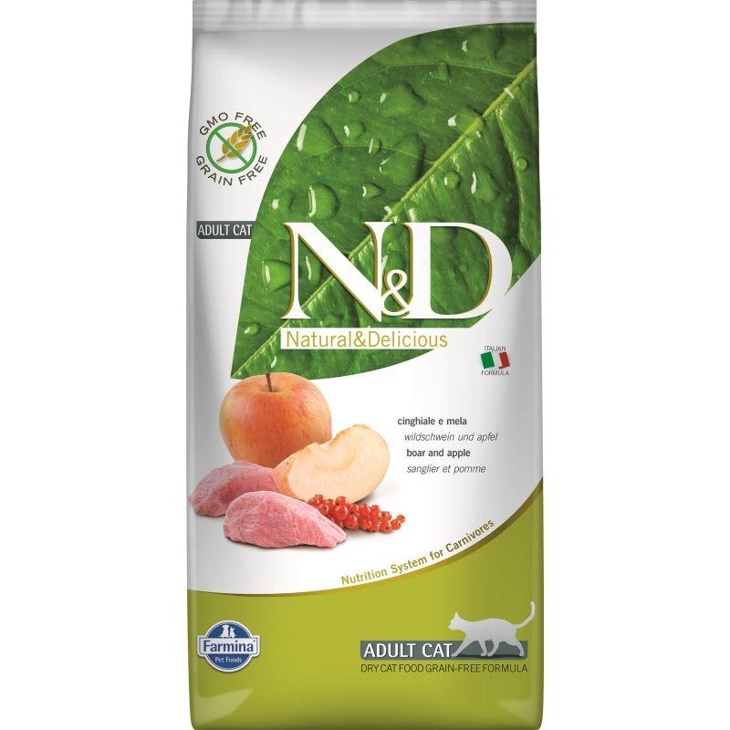 N&D Grain free Cat Boar and Apple, 5 kg imagine