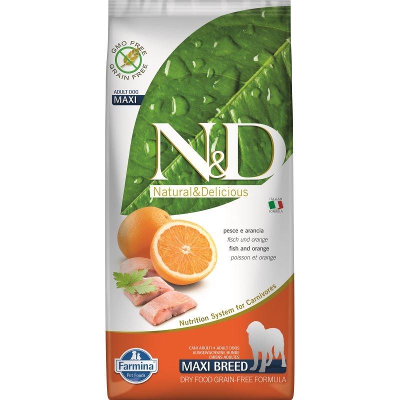 N&D Dog Grain free Fish and Orange Adult Maxi, 12 kg imagine