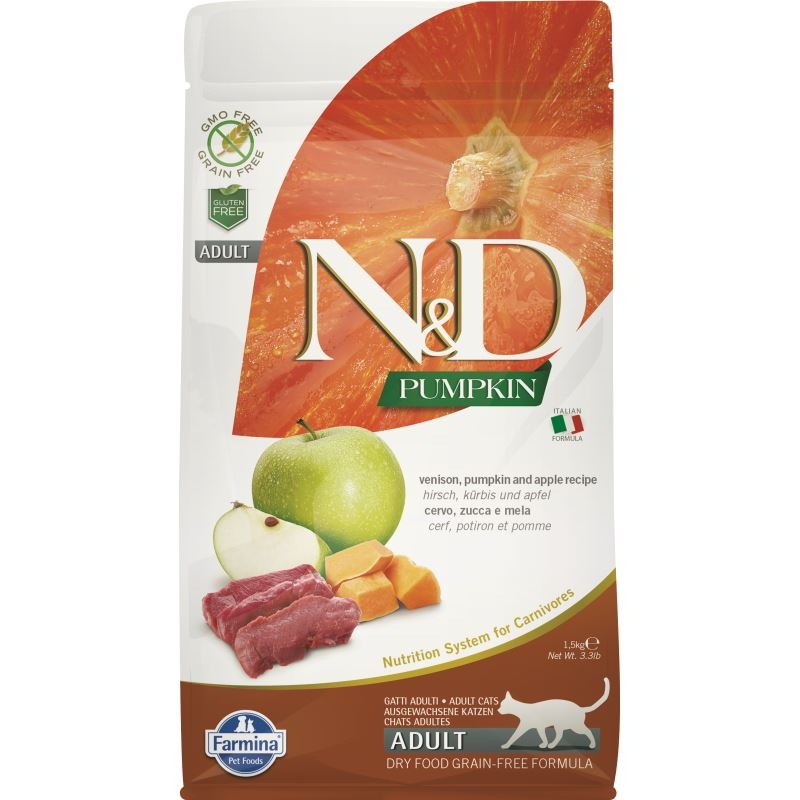 N&D Grain free Pumpkin and Venison, 1.5 kg imagine