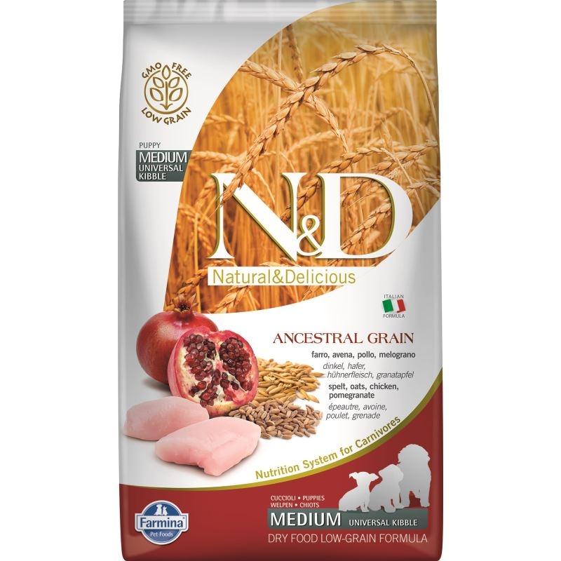 N&D Low Grain Chicken and Pomegranate Puppy Medium, 2.5 kg imagine