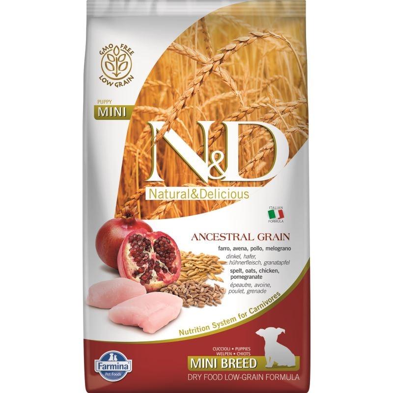 N&D Low Grain Chicken And Pomegranate Puppy Mini, 2.5 Kg imagine