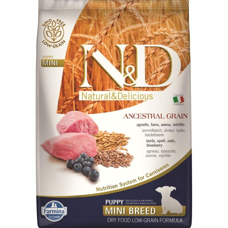 N&D Low Grain Dog Lamb and Blueberry Puppy Mini, 7 kg imagine