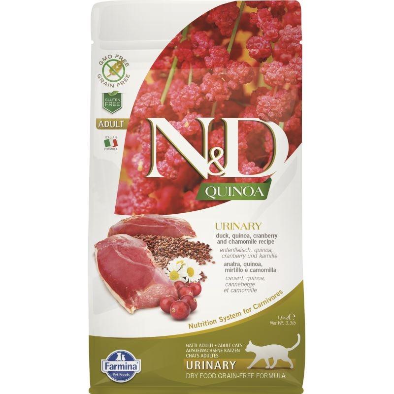 N&D Cat Urinary, Quinoa and Duck, 1.5 kg imagine