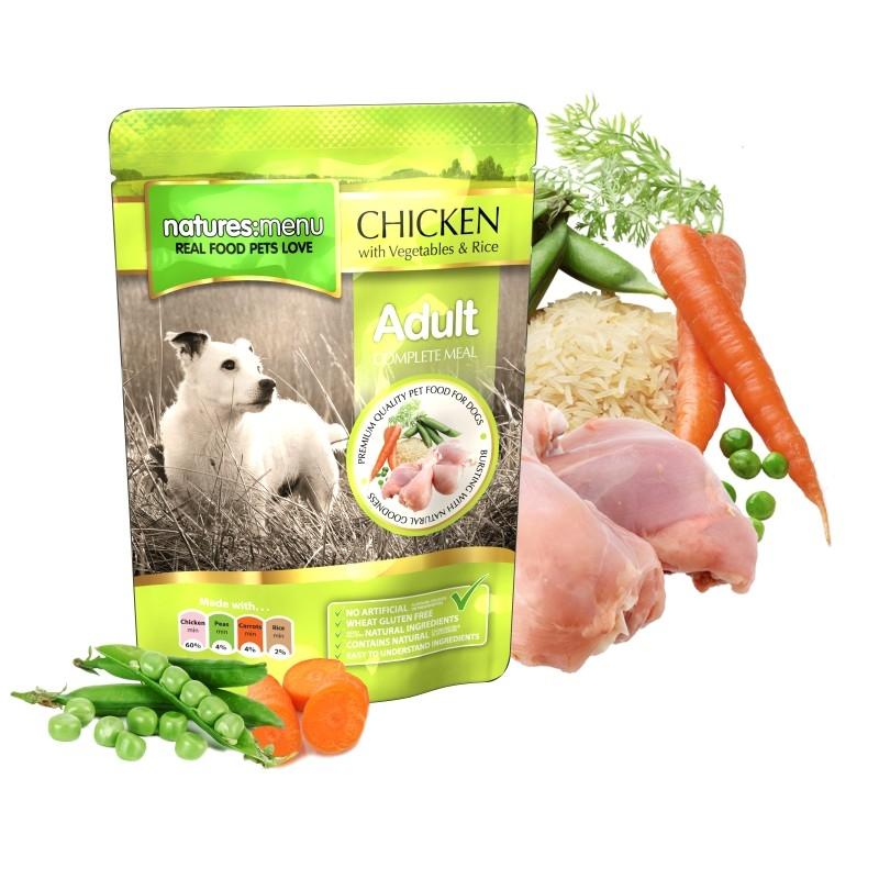 Natures Menu Dog Adult Chicken, 300 g imagine