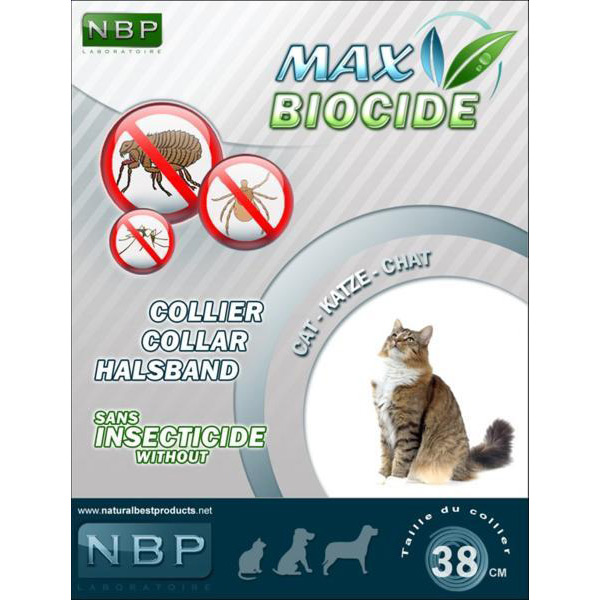 Zgarda Antiparazitara NBP Pisica, 42 cm imagine