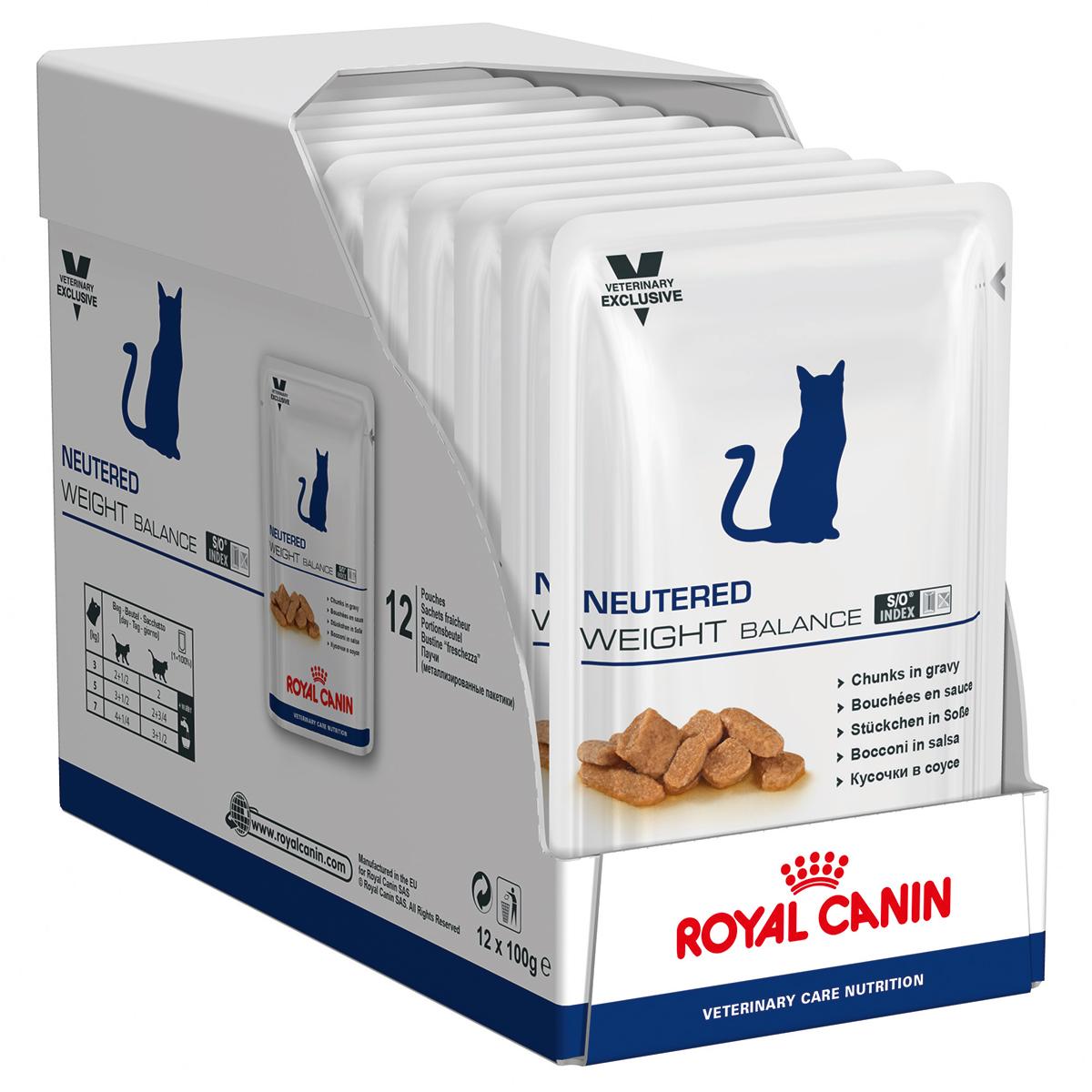 Royal Canin Neutered Weight Balance Cat, 12 plicuri x 85 g imagine
