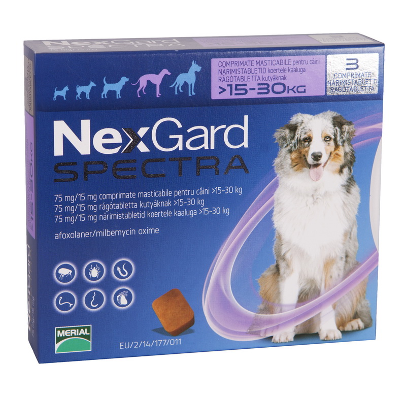 Nexgard Spectra L (15 - 30 kg), 3 comprimate imagine