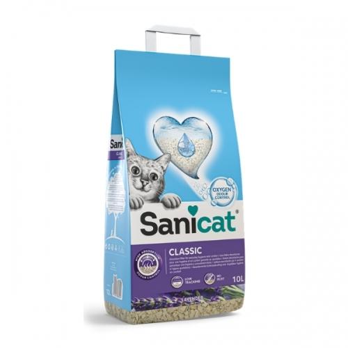 Nisip pentru litiera, Sanicat Classic Lavanda, 10 L imagine