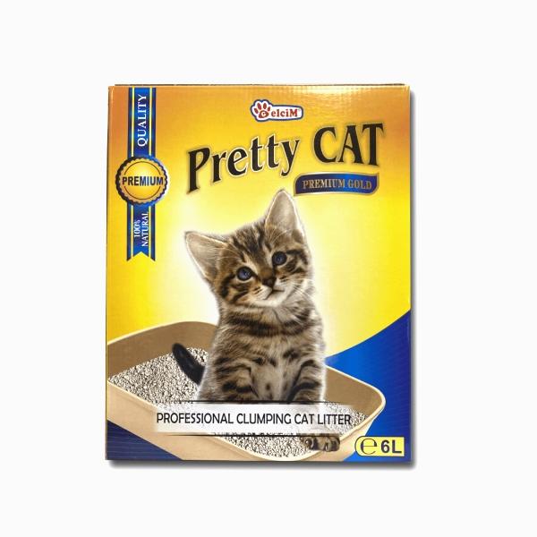 Nisip pentru litiera, Pretty Cat Premium Gold, 6 L imagine