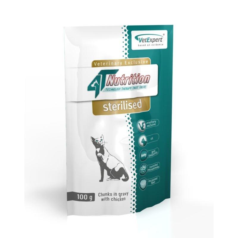 Nutrition 4T - Dieta umeda Sterilised cat, 100 g imagine