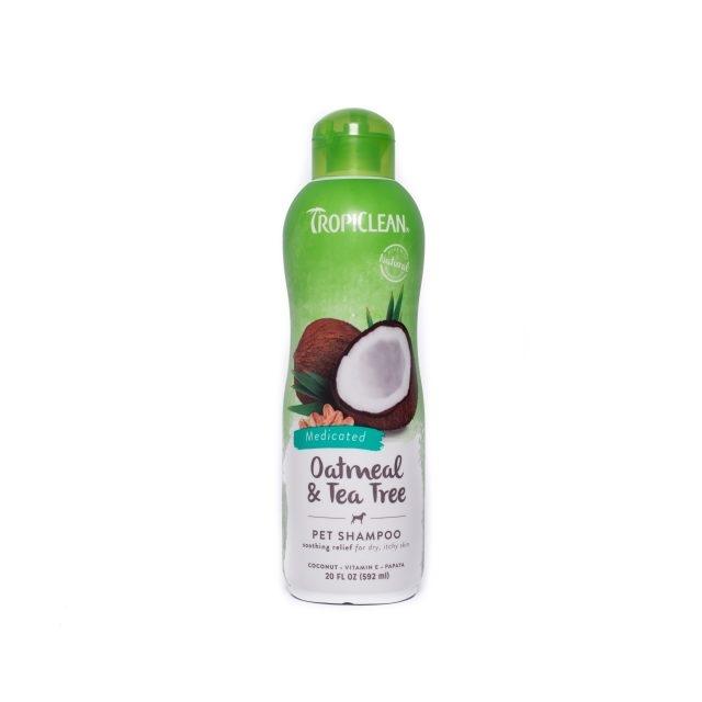 Sampon pentru caini, Tropiclean Oatmeal & Tea Tree, 355 ml imagine