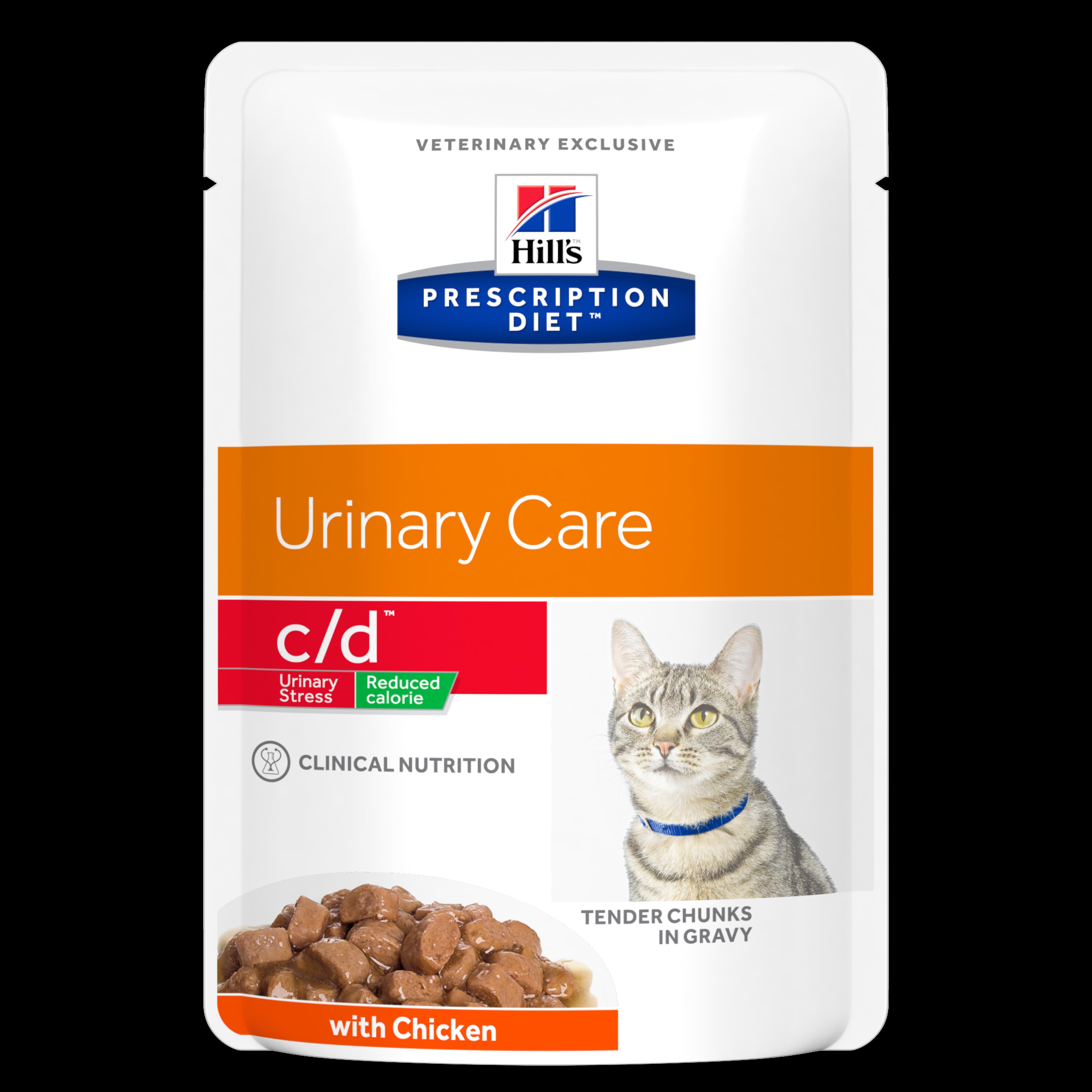 Hill's PD Feline C/D Stress Reduced Calorie Chicken, 85 g imagine