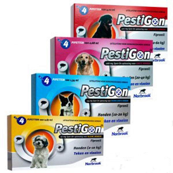 Pestigon Dog M (10-20 kg) 4 pipete imagine