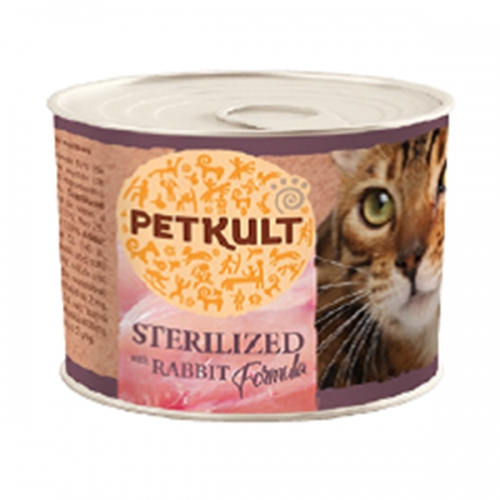 Hrana umeda pisici, Petkult Sterilised cu iepure, 185 g imagine