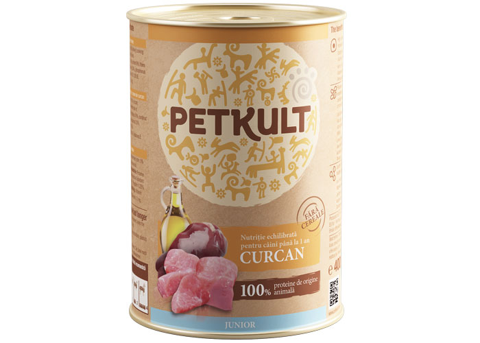 Petkult Junior Curcan 400g imagine
