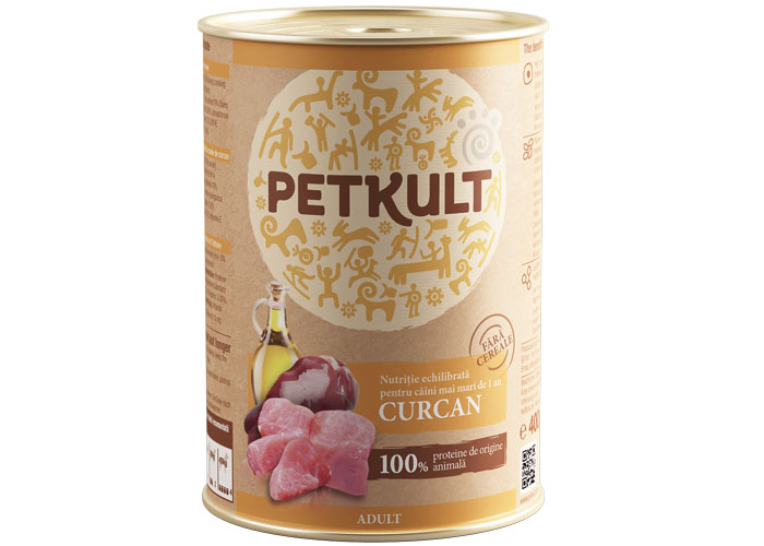 Petkult Adult Curcan 800g imagine