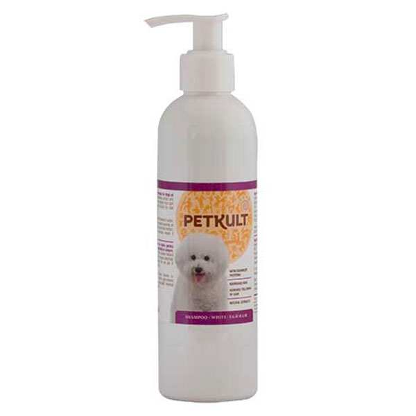 Petkult Shampoo White - Fair Hair, 250 ml imagine
