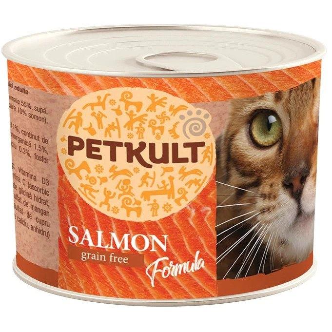 Hrana umeda pisici, Petkult cu somon, 185 g imagine