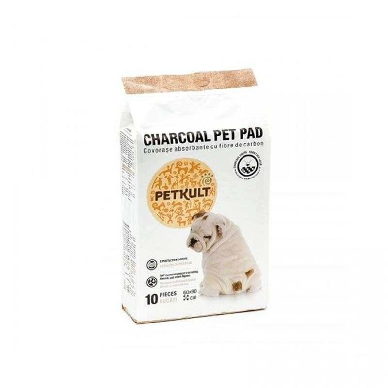Petkult Pet Pad Charcoal 60 x 90cm, 10 buc imagine