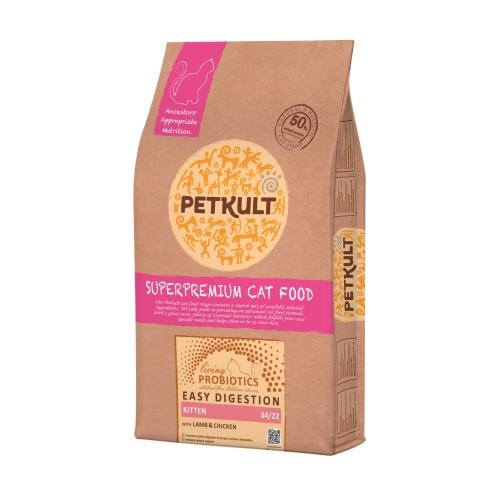 Hrana uscata pisici, Petkult Probiotics Kitten cu miel si pui, 7 kg imagine
