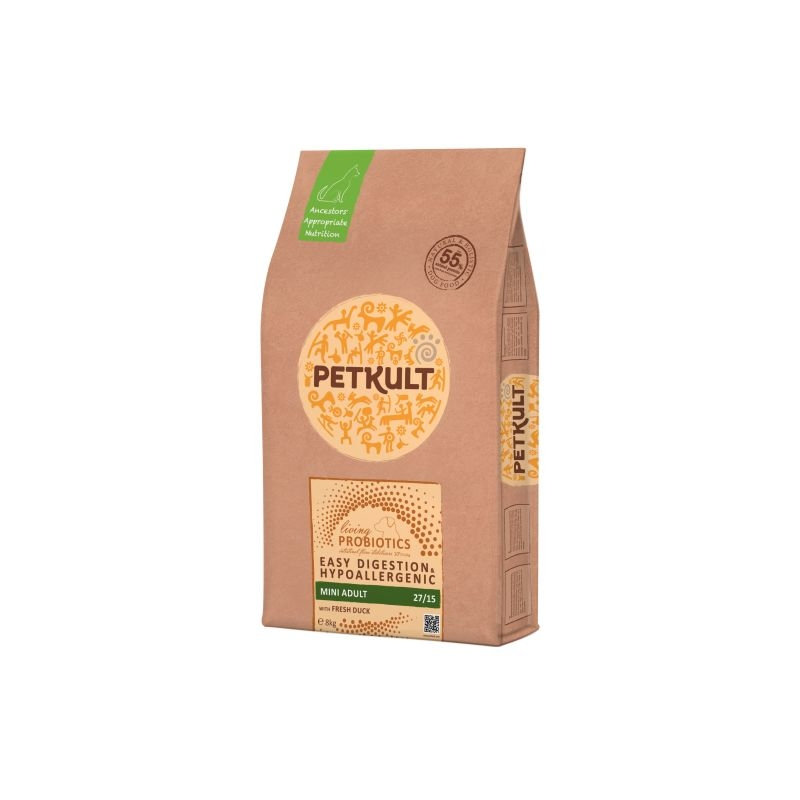 Petkult Probiotics Adult Mini Formula Duck & Rice, 8 kg imagine