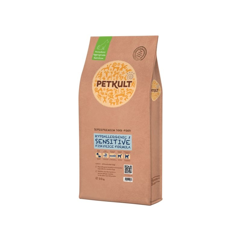 Petkult Sensitive Fish & Rice, 14 kg imagine