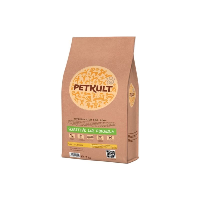 Petkult Sensitive Low Calories Lamb & Rice, 2 kg imagine