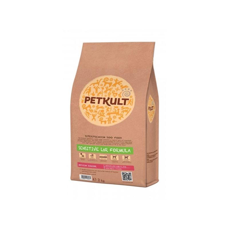 Petkult Sensitive Medium Junior Lamb & Rice, 2 kg imagine