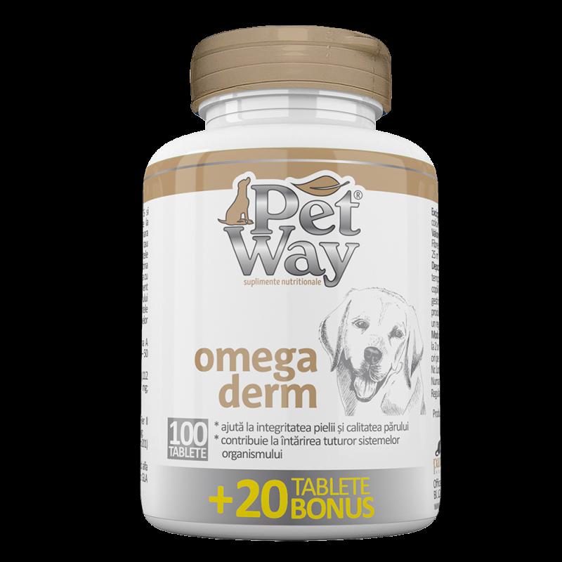 PetWay Omega Derm, 100 tablete + 20 BONUS imagine