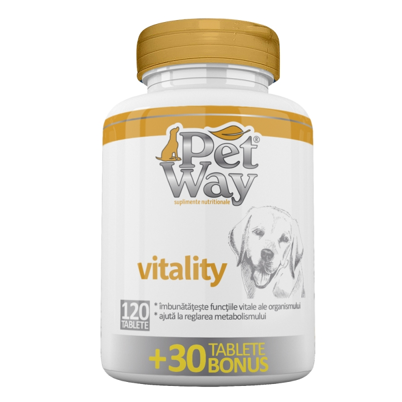 PetWay Vitality, 120 tablete imagine