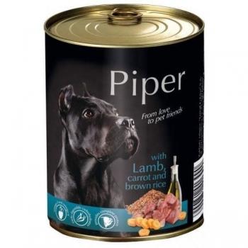 Piper Adult, Carne De Miel, Morcovi Si Orez Brun, 400 G imagine