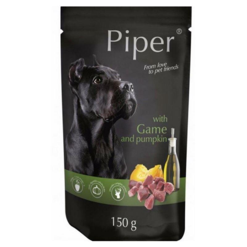 Piper Adult, carne de vanat si dovleac, plic, 150 g imagine
