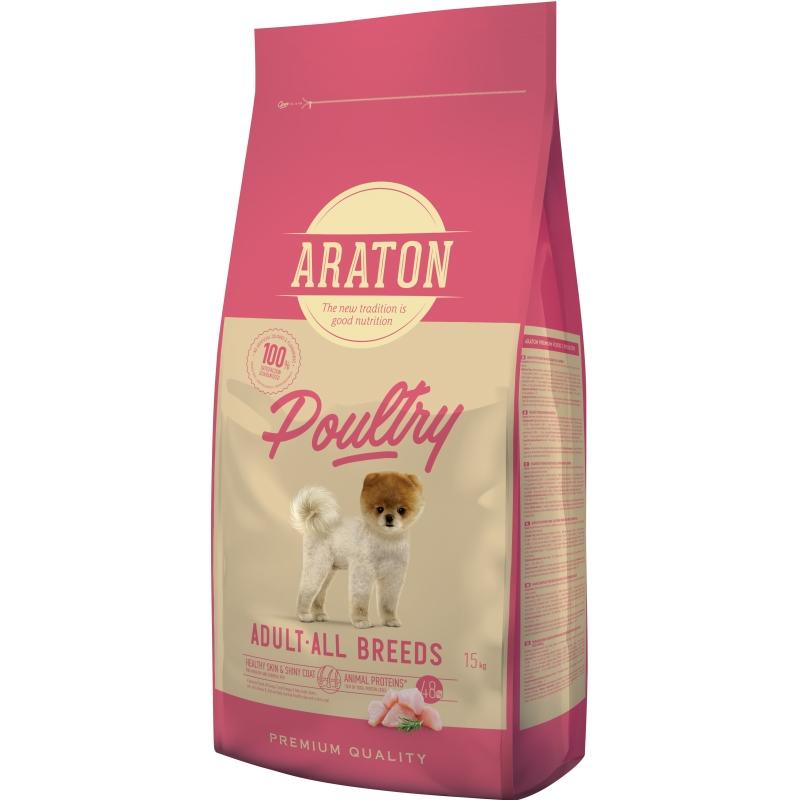 Araton Dog Adult Mini & Medium Poultry, 15 Kg imagine