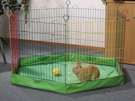 Husa suport pentru tarc iepuri, 6 laturi, 60x60x10 cm imagine