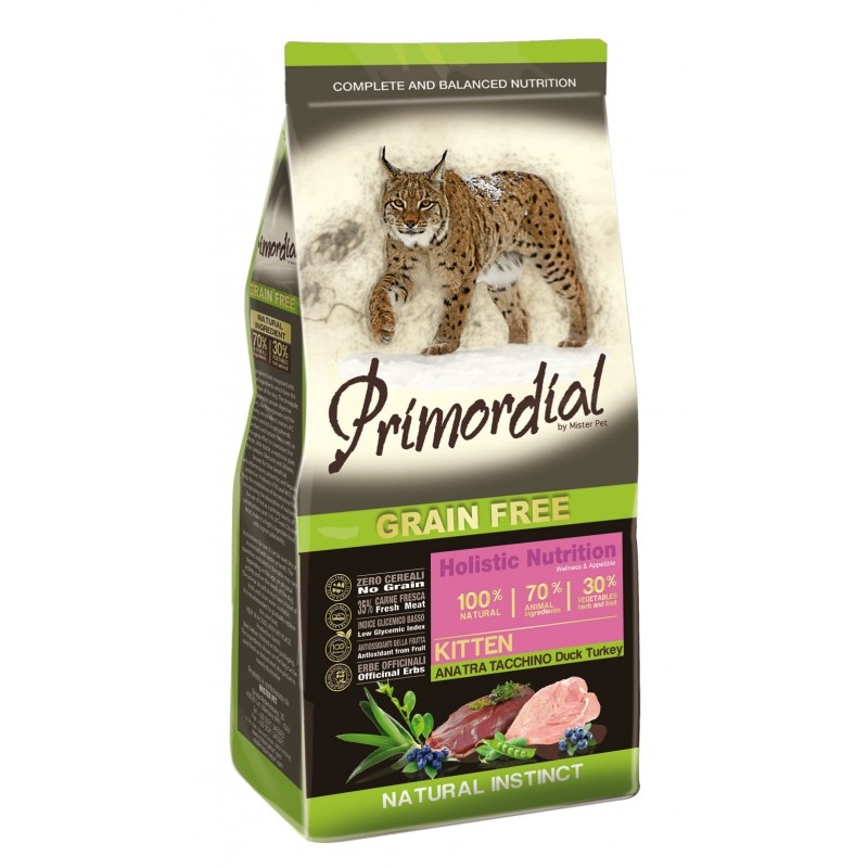 Primordial Grain-Free Holistic Cat Kitten Duck & Turkey, 6 Kg imagine