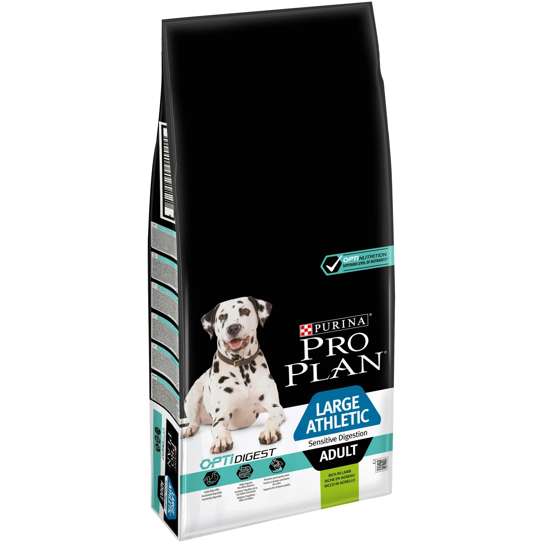 Pro Plan OptiDigest L Adult Athletic Sensitive Digestion, Lamb, 14 kg imagine