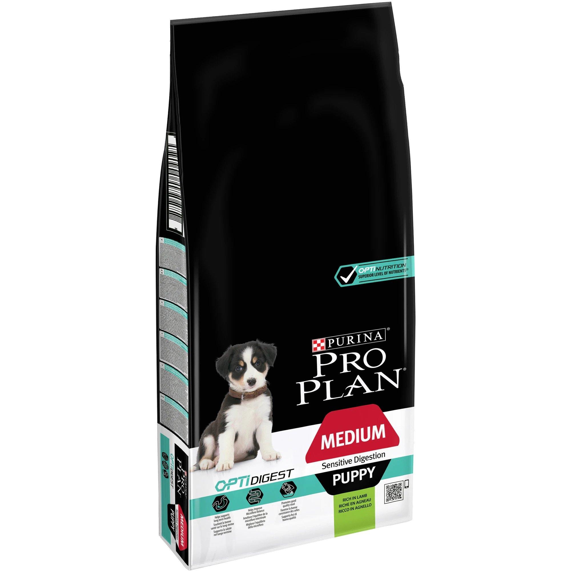 Pro Plan OptiDigest M Puppy Sensitive Digestion Lamb, 12 kg imagine
